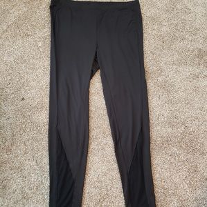 Pants - Women's Leggings with Mesh Inserts